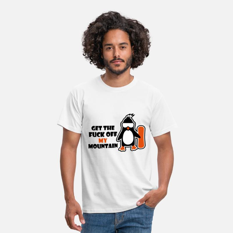 Board T-Shirts - get the fuck off my mountain - Men's T-Shirt white