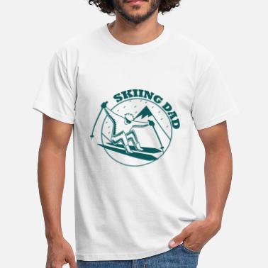 Skiing Dad Skiing dad skiing dad skiing dad - Men's T-Shirt