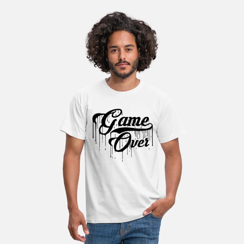 Gaming T-Shirts - Game Over Design - Men's T-Shirt white