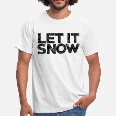 Typography AD Snow Typography - Mannen T-shirt