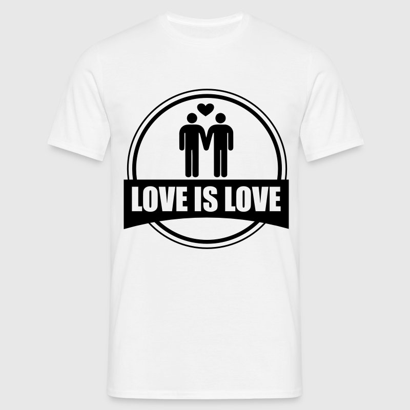LOVE IS LOVE GAY - Männer T-Shirt