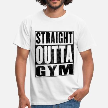 Losse Sportkleding Straight Outta Gym Vintag - Mannen T-shirt