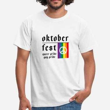 Gay Lederhose Oktoberfest Queer Gay Pride - Männer T-Shirt