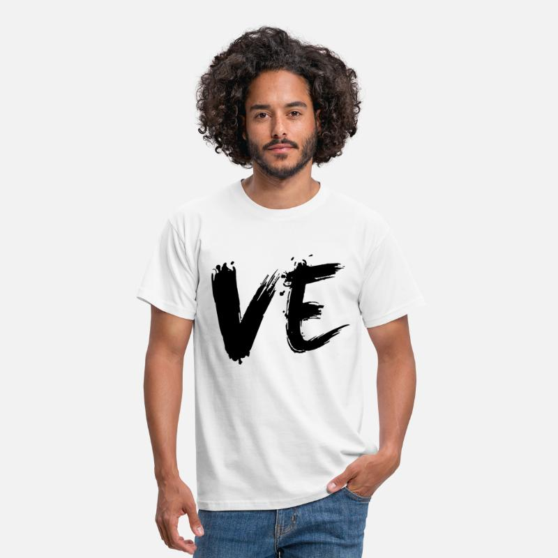 Partnerlook T-Shirts - paarshirt - VE - LOVE - Männer T-Shirt Weiß