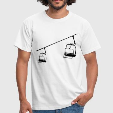 Skilift Retro skilift - stolelift illustration - Herre-T-shirt