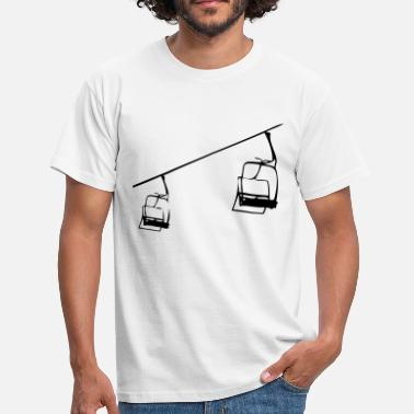 Skilift Retro Skilift - Sesselllift Illustration - Männer T-Shirt