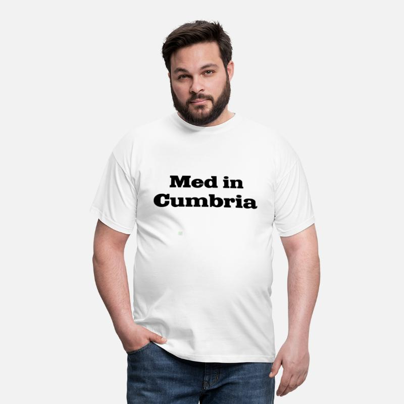 England T-Shirts - Med in Cumbria - Men's T-Shirt white
