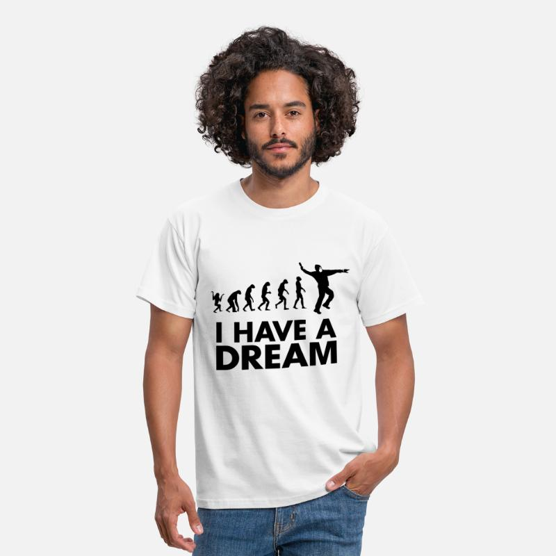 Martin Luther King T-shirts - I HAVE A DREAM - T-shirt Homme blanc
