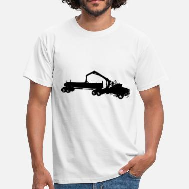 Forestry forestry truck truck - Men's T-Shirt