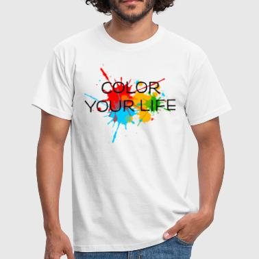 Taches éclaboussures couleur, splash, color, taches - T-shirt Homme