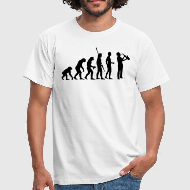 evolution_saxophon_a_1c - Männer T-Shirt