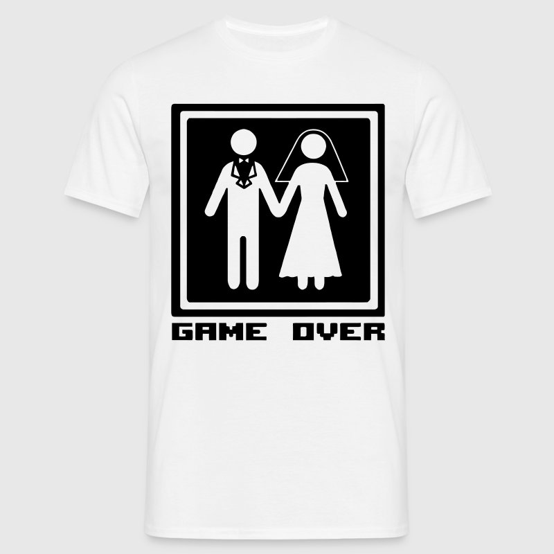 Fun: Wedding/Hochzeit: Game Over - The end of life - Mannen T-shirt