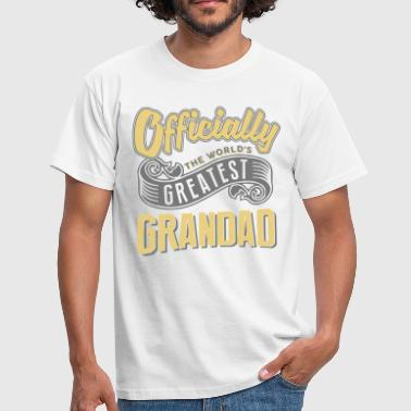 Worlds Greatest Grandad Officially the worlds greatest grandad - Men's T-Shirt