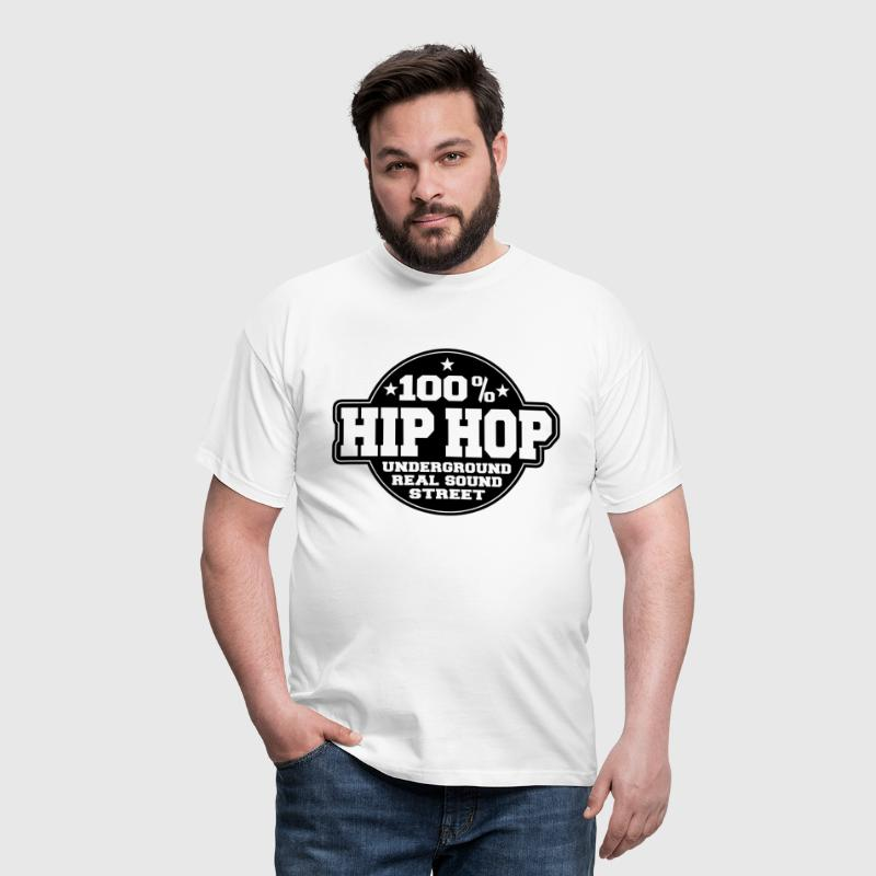100% hip hop underground real sound street - Men's T-Shirt