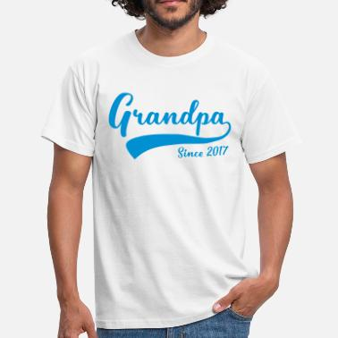 Grandpa 2017 Grandpa since 2017 - Men's T-Shirt