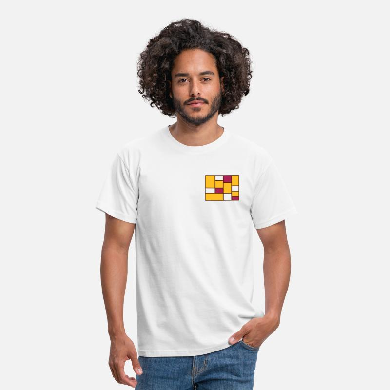 Mondrian T-Shirts - Abstract Mondrian - Men's T-Shirt white