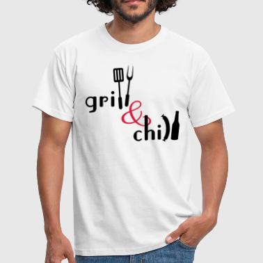 Chillen Grillen Grill and Chill - Männer T-Shirt