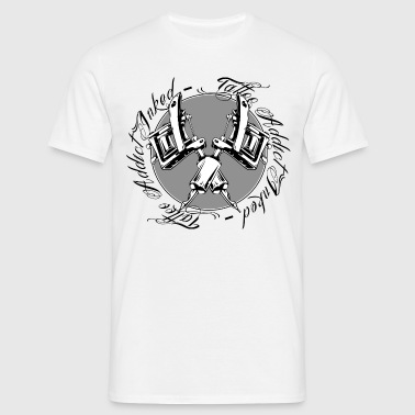 tattoo addict inked rond - T-shirt Homme