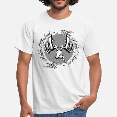Tattoo-dermographe tattoo addict inked rond - T-shirt Homme