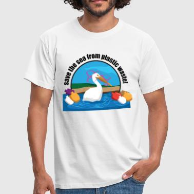 Save the sea plastic garbage pollution - Men's T-Shirt