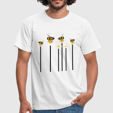 Wasp growing_flowers_with_bees - Men's T-Shirt
