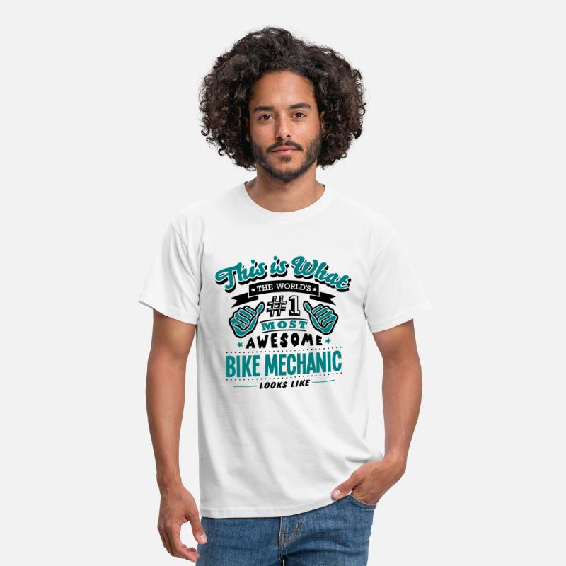 Cycling T-Shirts - bike mechanic world no1 most awesome cop - Men's T-Shirt white