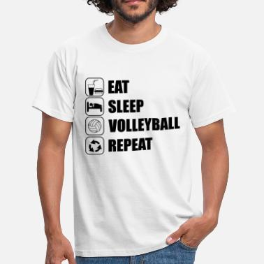 Beach Volley Spiaggia Eat Sleep Volleyball Repe - Maglietta da uomo