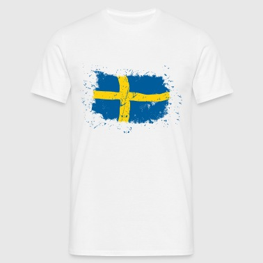 Sweden Flag - Vintage Look - Männer T-Shirt