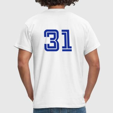 College Numbers, Nummern, Sports Numbers, 31 - Men's T-Shirt