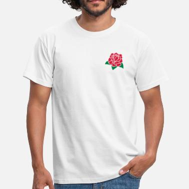 Tudor Rose Flower 2c - Men's T-Shirt