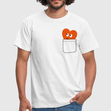 heart in pocket - Men's T-Shirt