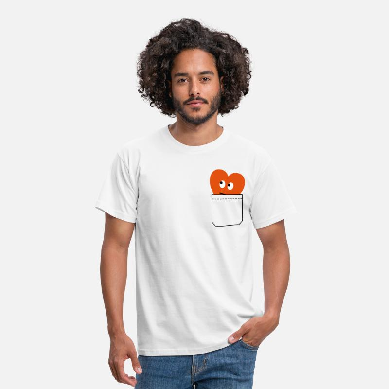 Love T-Shirts - heart in pocket - Men's T-Shirt white