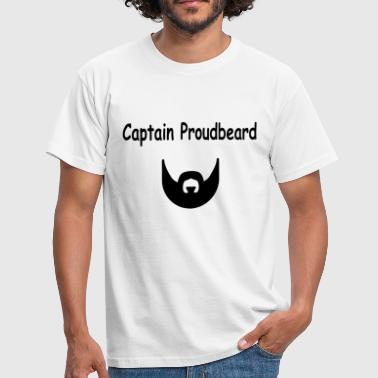 Moder Bart Captain Proudbeard T-Shirt Bart Mode Lifestyle - Männer T-Shirt