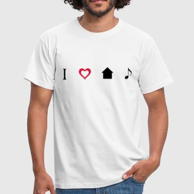 I love House Music Icons T-shirts - Mannen T-shirt