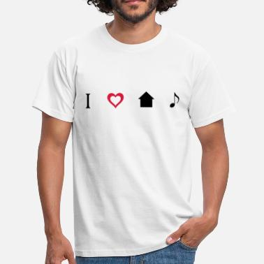 I Love House I love House Music Icons - Mannen T-shirt
