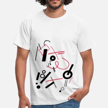 Compositie abstracte compositie - Mannen T-shirt