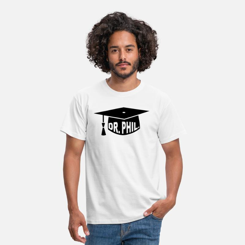 Phd T-Shirts - Graduation Party - PhD - Gift - Dr. phil. - Men's T-Shirt white