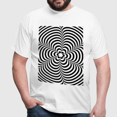 Optical illusion (Impossible) Black & White OP-Art - Mannen T-shirt