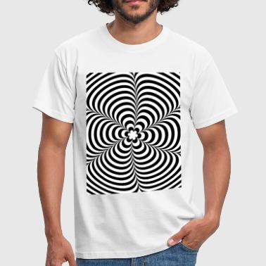 Optical illusion (Impossible) Black & White OP-Art - Männer T-Shirt