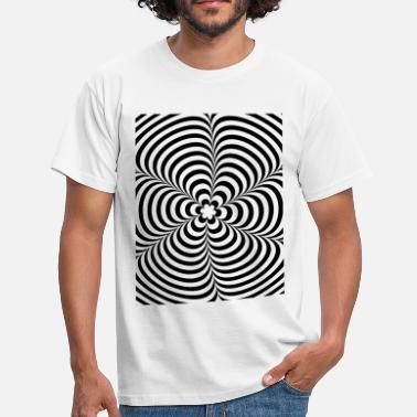 Trippy Optical illusion (Impossible) Black & White OP-Art - Männer T-Shirt