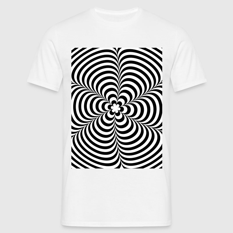 Optical illusion (Impossible) Black & White OP-Art - Men's T-Shirt
