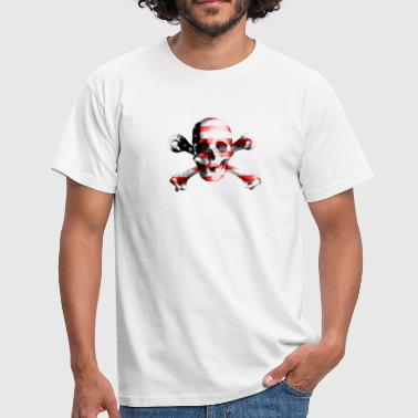 Drapeau Pirate Drapeau de pirate crâne crâne USA - T-shirt Homme