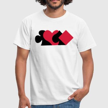 Pokerface carte symboles  - T-shirt Homme