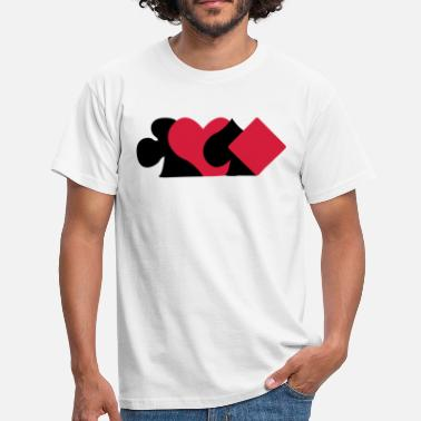 Symboles Cartes Pokerface carte symboles  - T-shirt Homme