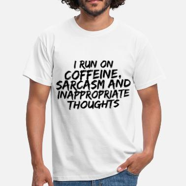 COFFEINE SARCASM - T-skjorte for menn