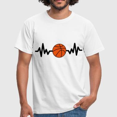 basket basketball is life - Camiseta hombre
