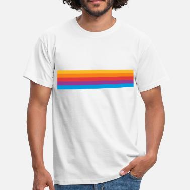 Rainbow Stripes Color stripes - rainbow - Men's T-Shirt