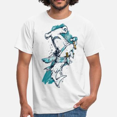 Cartoon Hammerhead shark fish cartoon - Men's T-Shirt