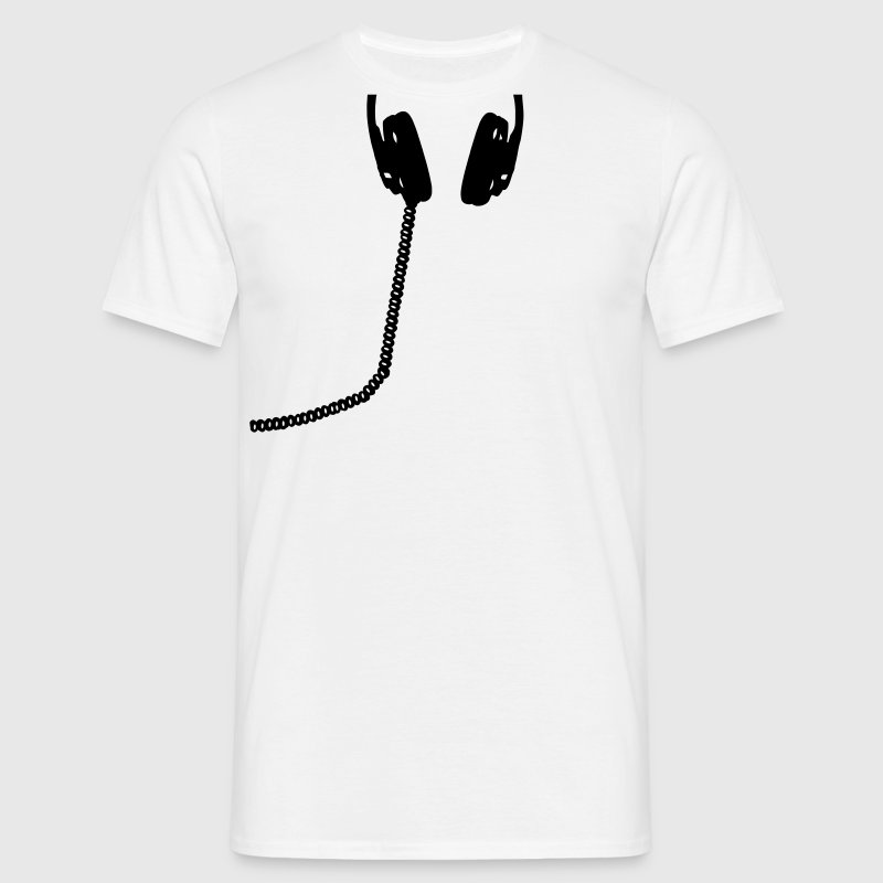 Headphones, headset, music, bass, sound, headphone - Men's T-Shirt