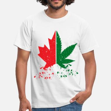 Canadian Canada. Cannabis Legalization. Canada great. Weed - Men's T-Shirt